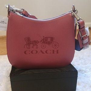 Coach Jes Leather Hobo Shoulder Handbag
